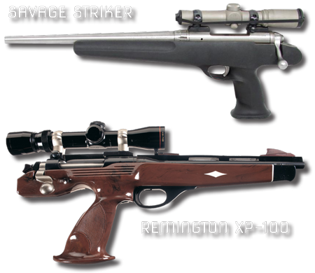 Savage Striker and Remington XP-100