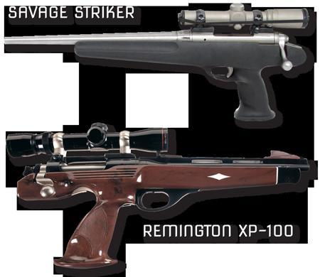 Savage Striker and Remington XP-100